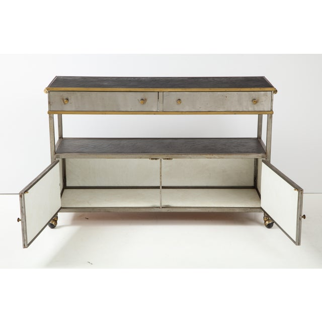 Brass and Steel Console For Sale - Image 10 of 13