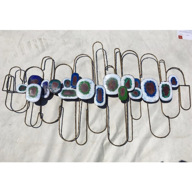 Large Cliff Hyink Abstract Organic Modern Enamel and Copper Wall Sculpture For Sale - Image 9 of 9
