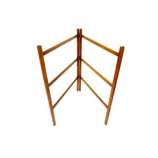 Mid-Century Danish Teak Blanket Rack | Quilt Ladder | Towel Stand || Free-Standing Adjustable Collapsible Expandable For Sale