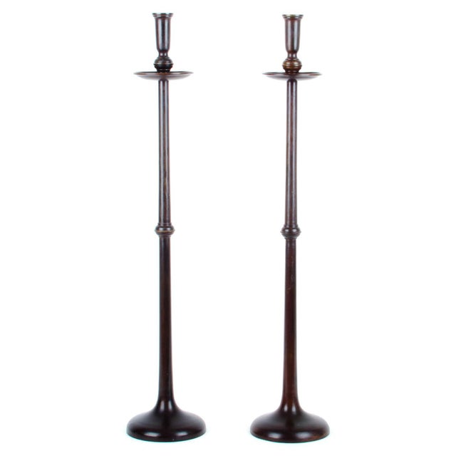 Maitland-Smith Bronze Candlesticks - Pair - Image 1 of 4
