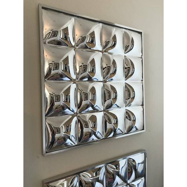 Modern 1970's Mirrored Acrylic Op-Art Panels - Set of 4 For Sale - Image 3 of 8