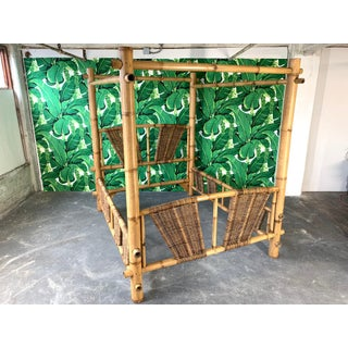 Queen Size Bamboo Canopy Bed Preview
