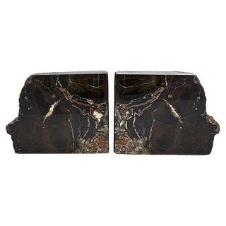 Vintage Petrified Wood Bookends For Sale