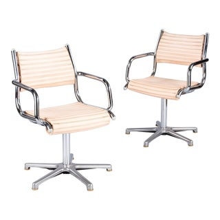 1970's Vintage Olymp Chrome Armchairs- A Pair For Sale