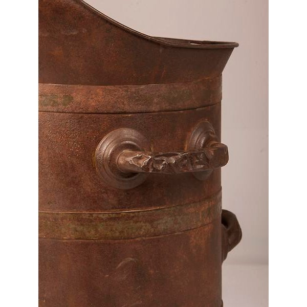 Iron 19th Century Enormous French Iron Wine Jug with Raised Handles For Sale - Image 7 of 11