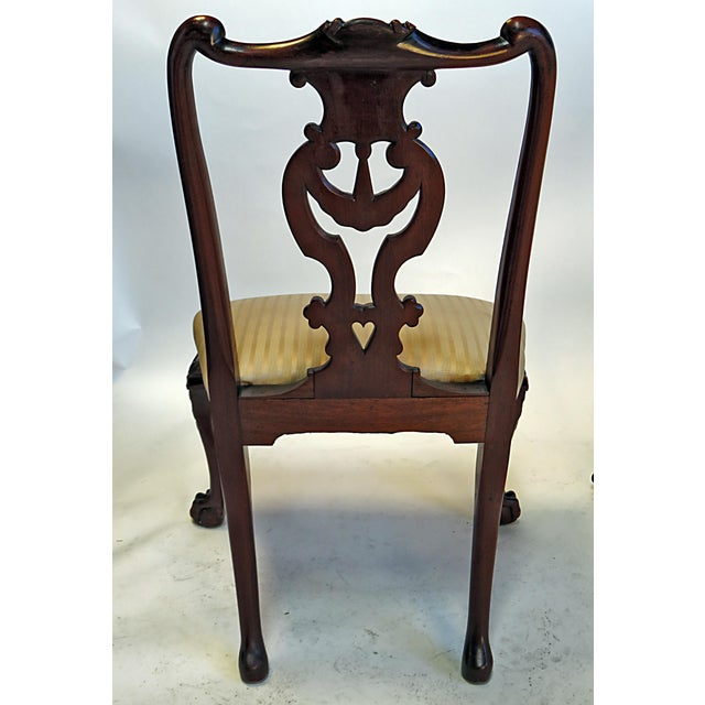 Late 19th Century English Chippendale Mahogany Side Chairs - a Pair For Sale In San Francisco - Image 6 of 6