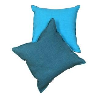 Designer's Guild Ocean Linen Pillows - a Pair