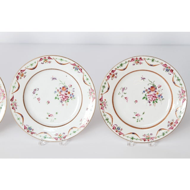 Mid 19th Century Early 19th Century Chinese Porcelain Plates Set of Six For Sale - Image 5 of 13