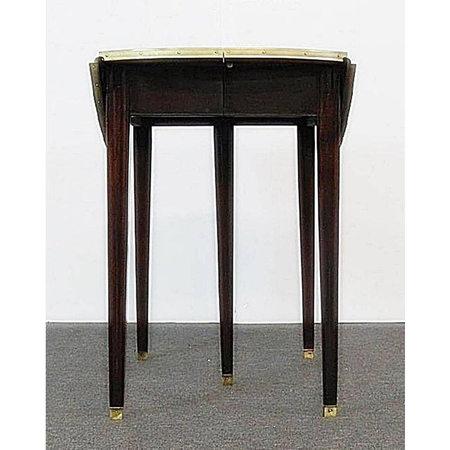 Regency Directoire Style Drop Leaf Dining Table For Sale - Image 3 of 11