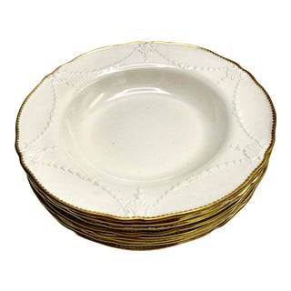 19th Century Antique Minton Ironstone Rimmed Bowls - Set of 8 For Sale