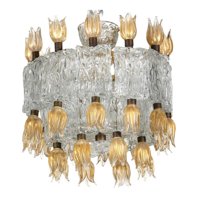Barovier & Toso Chandelier, 50s For Sale