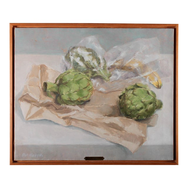 "Pat Ralph ""Still Life With Artichokes"" Oil Painting For Sale"