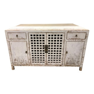 Shabby Chic Lattice Door Sideboard For Sale