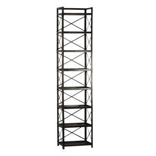 Gun Metal Tall X Shelf For Sale