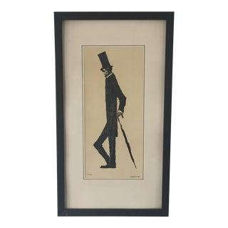 1963 Vintage 'Long Abraham a Little Longer' Signed Sketch For Sale