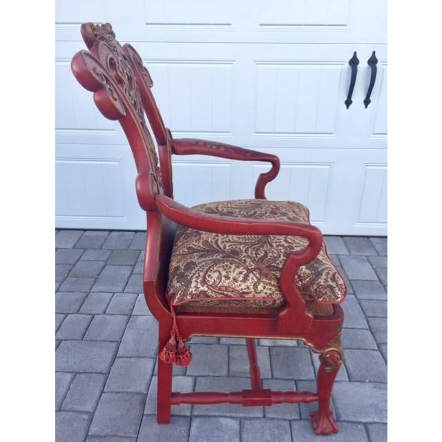 1940s 1940s Vintage Italian Renaissance Chair For Sale - Image 5 of 7