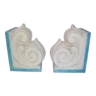 Mid 20th Century Ceramic Corbel Bookends - a Pair For Sale