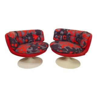Wild Mid-Century Modern Swivel Chairs by Stjernmöbler For Sale