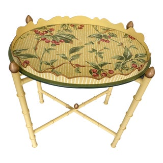 English Mid-Century Hand Painted Tray Table For Sale