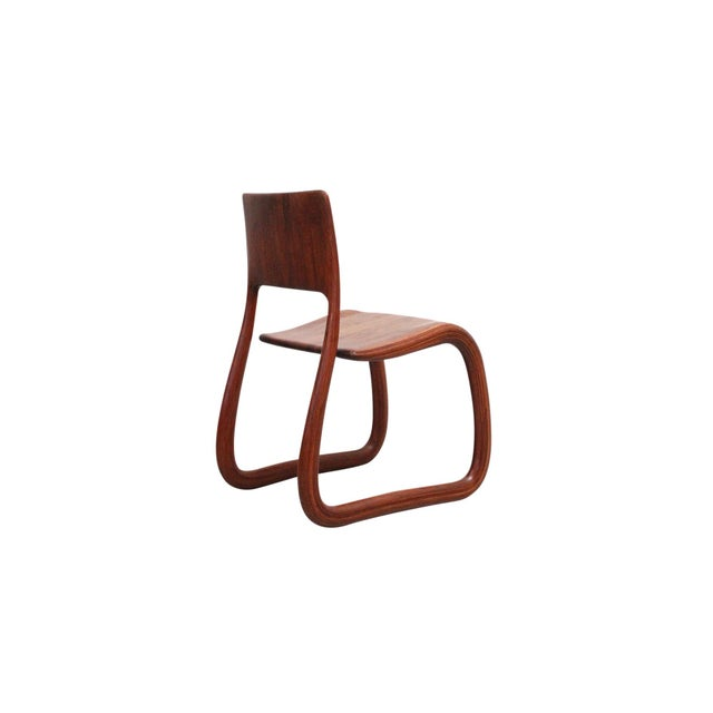 1980s Sculptural Walnut Chair by David Flatt For Sale - Image 5 of 13