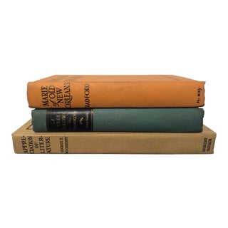 Vintage Decorative Books - Set of 3 For Sale