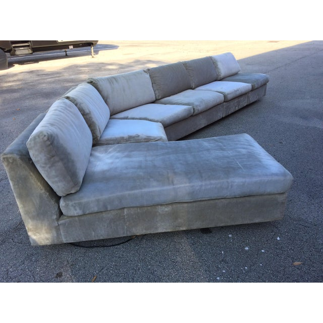 This stunning four-piece modular sofa. There is no marking on this piece, but the seller believes it may have possibly...