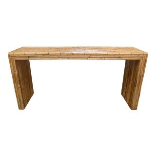 Minimalist Bamboo Console Table For Sale