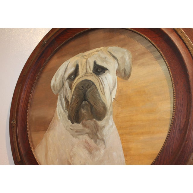 Monumental 19th Century Signed L. Stowe Oil Painting of Dog For Sale In Los Angeles - Image 6 of 7