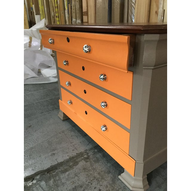 French Painted Louis-Philippe Chest For Sale - Image 4 of 7