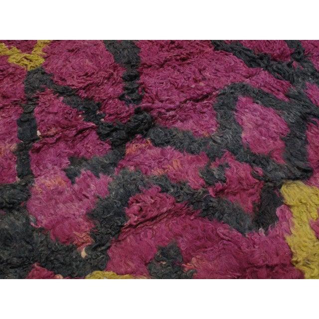 Textile Ait Bou Ichaouen Moroccan Berber Carpet For Sale - Image 7 of 10
