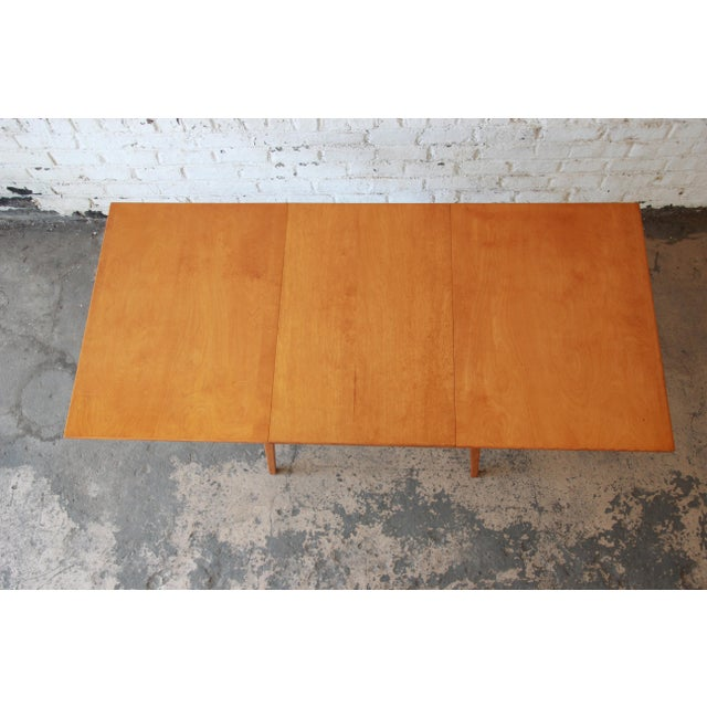 Jens Risom Mid-Century Modern Maple Dining Table For Sale In South Bend - Image 6 of 11