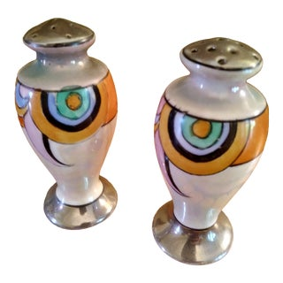 Art Deco Lustre Salt and Pepper Shakers For Sale