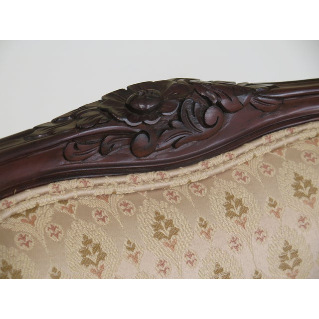 French 1990s Vintage Drexel Heritage French Louis XV Style Upholstered Chair For Sale - Image 3 of 11