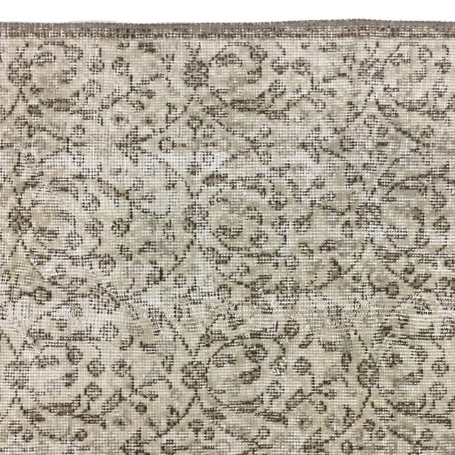 Islamic Floral Overdyed Carpet -- 2'5 x 7'9 Runner For Sale - Image 3 of 3