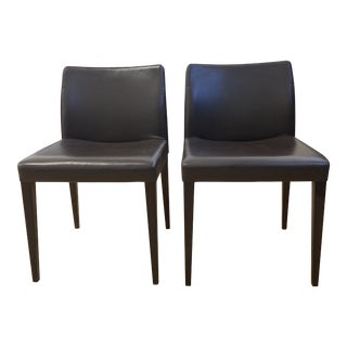 Poltrona Frau Liz B Leather Chairs - a Pair For Sale