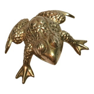Vintage Solid Brass Toad