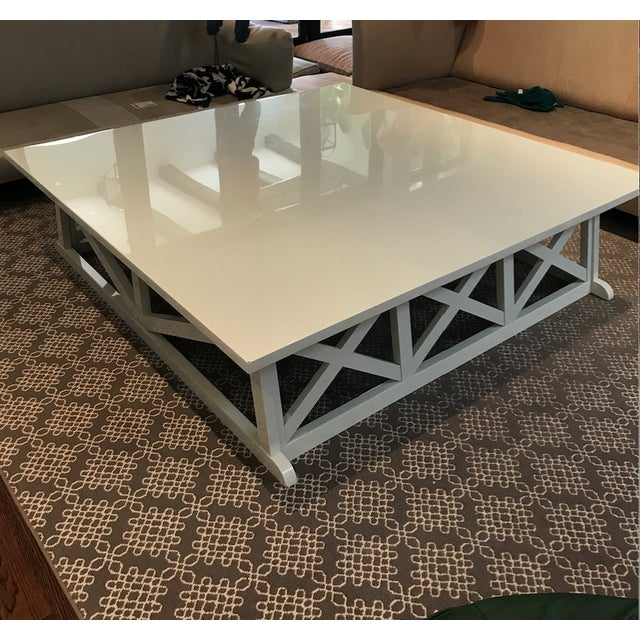 Gorgeous Custom Victoria Hagan Coffee Table Super Discounted - Custom size coffee table