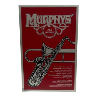 Murphy's Ale House Concert Series Poster For Sale