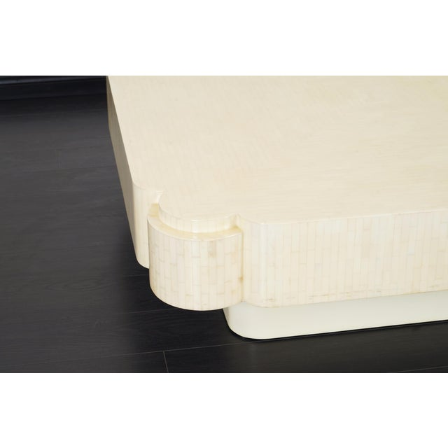 White Vintage Tessellated Bone Coffee Table by Enrique Garcel For Sale - Image 8 of 9
