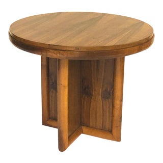 Jean Royere for Gouffe Rare Coffee Table With Sturdy Cylinder Accent Base For Sale