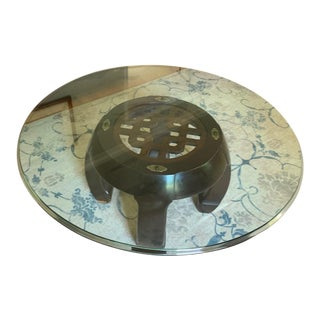 1980sAsian Gordons Inc Glass Top Coffee Table For Sale