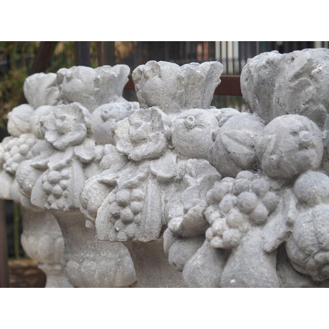 Italian Recomposed Limestone Fruit and Flower Vases (Sold Individually) For Sale In Dallas - Image 6 of 13
