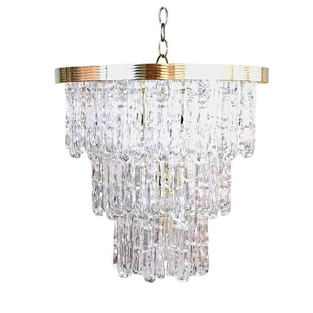 Tiered Lucite Icicle Chandelier For Sale - Image 10 of 10