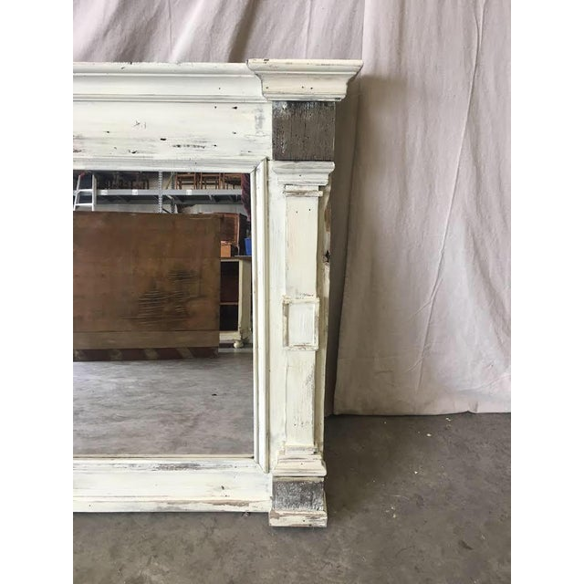 Scandinavian Painted Reclaimed Wood Mirror For Sale - Image 4 of 6
