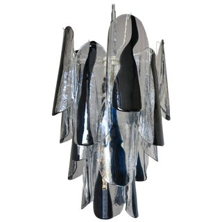 Petals Chandelier by Mazzega For Sale