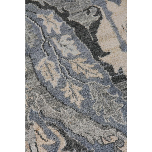 Traditional Loch Hand knotted Wool Emerald Rug-12'x15' For Sale - Image 3 of 8