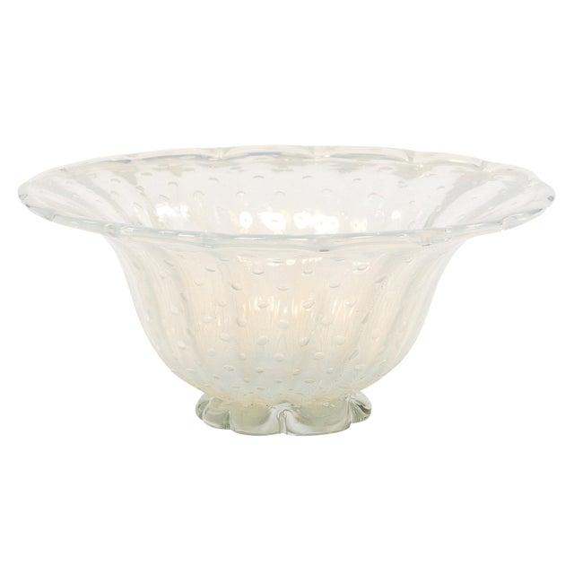 Iridescent Murano Glass Bowl For Sale