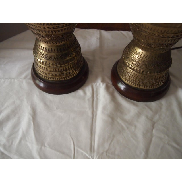 Pair Of Anglo Indian Brass Lamps Chairish
