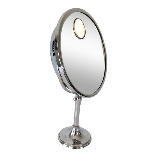 1960 Brot Mirophar Illuminated Vanity Mirror Paris - France . For Sale