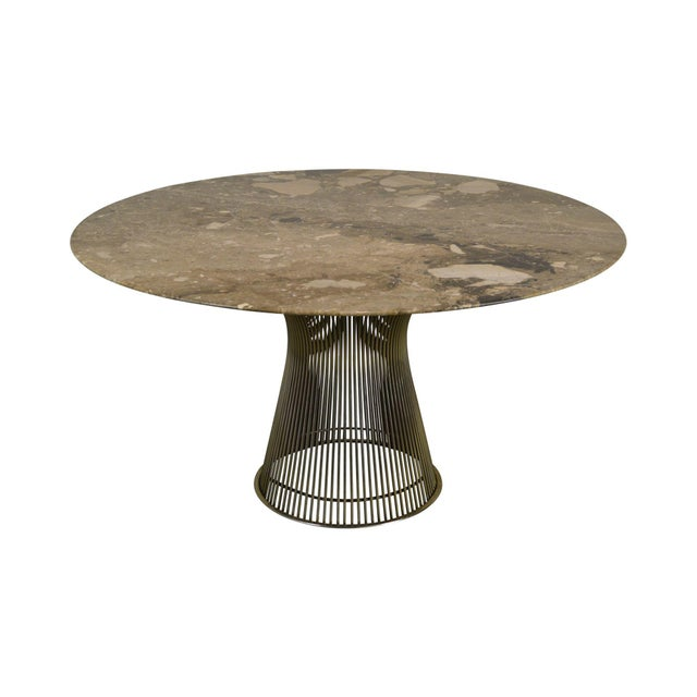"Warren Platner for Knoll 54"" Round Marble Top Dining Table For Sale - Image 13 of 13"